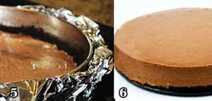 پخت چیز کیک شکلاتی