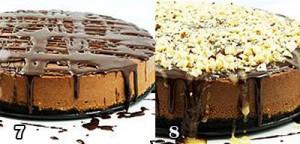 تزیین چیز کیک شکلات