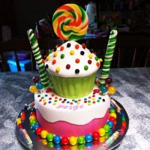 مدل تزیین کیک تولد 2 طبقه