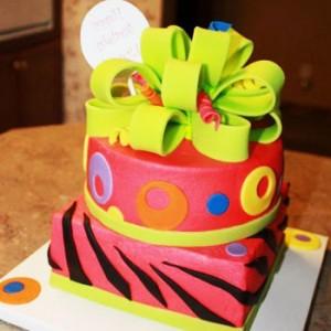 مدل کیک تولد 2 طبقه
