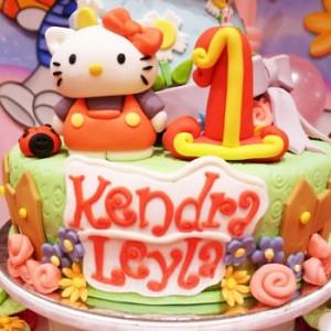 طرح کیک تولد دخترانه