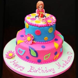 کیک تولد دخترانه با عکس