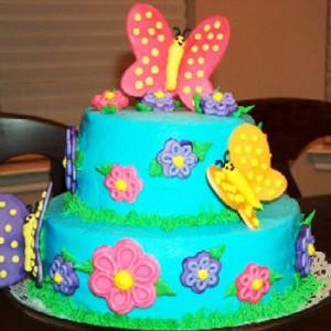 کیک تولد دخترانه پروانه ای