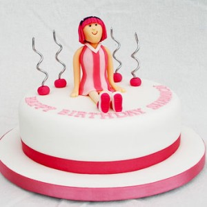 کیک تولد دخترانه زیبا