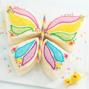 کیک تولد دخترانه مدل پروانه