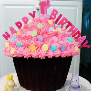 کیک تولد دخترانه با خامه