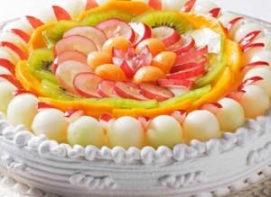عکس کیک تولد میوه ای