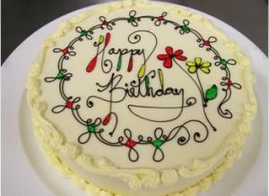 کیک تولد با خامه