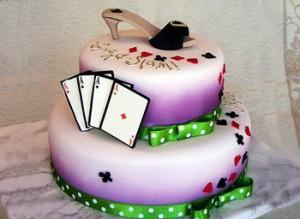 کیک تولد بنفش
