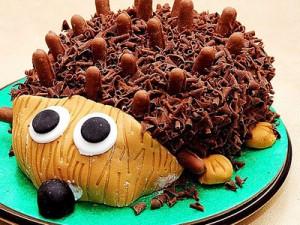 کیک تولد مدل بچه گانه جوجه تیغی