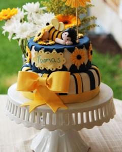 کیک تولددخترانه مدل زنبوری
