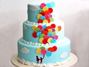 کیک تولد گردچندطبقه بچه گانه