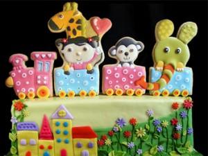 کیک تولد بچه گانه زیبا