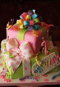 کیک تولد جعبه کادو