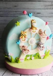کیک تولدعروسکی فانتزی