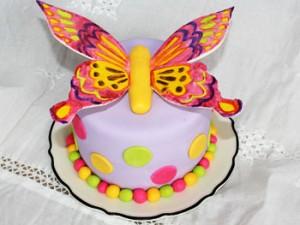 کیک تولددخترانه پروانه