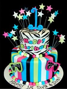 کیک تولددخترانه بچه گانه