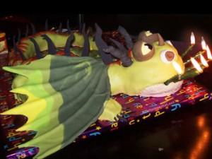 کیک تولدپسرانه اژدها