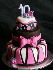 کیک تولددخترانه شکلاتی