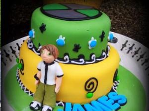 کیک تولدپسرانه گرد