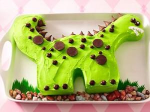 کیک تولدبچه گانه مدل دایناسور