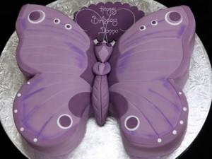 کیک تولد بچه گانه دخترانه مدل پروانه