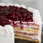 کیک تولدبا تزیین انار