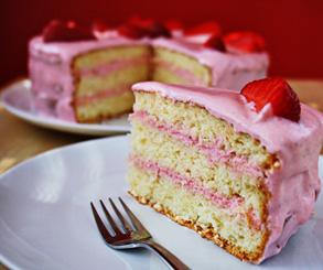 طرزتهیه کیک تولدبا کرم توت فرنگی