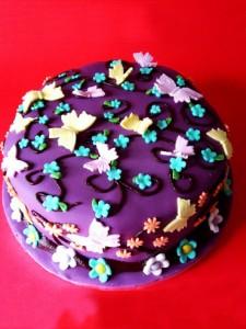 کیک تولدپروانه