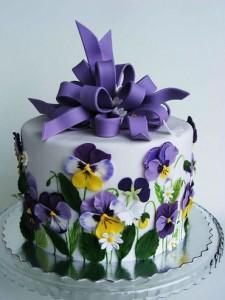 کیک تولدگل
