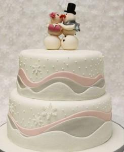 کیک تولدآدم برفی