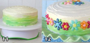 اموزش کیک تولدخانگی با کرم ایسینگ