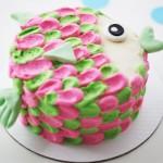 تزیین کیک تولدخانگی مدل ماهی