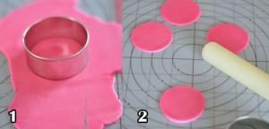 نحوه تزیین کیک تولدباخمیرفوندانت به شکل گل