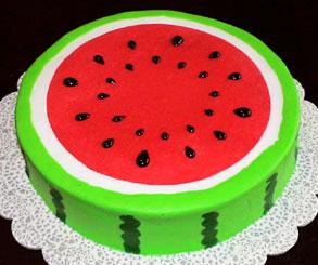 نحوه تزیین کیک مدل هندوانه