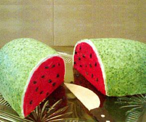 کیک هندوانه برای شب یلدا