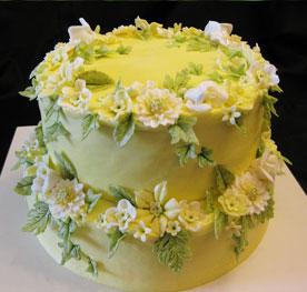 کیک تولد با گل