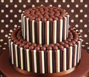 کیک شکلاتی گرد