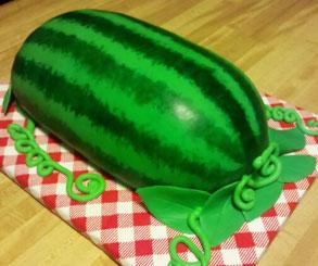 اموزش تزیین کیک هندوانه شب یلدا