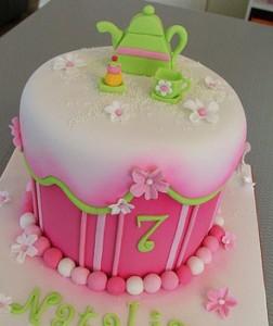 کیک تولدبا خمیرفوندانت