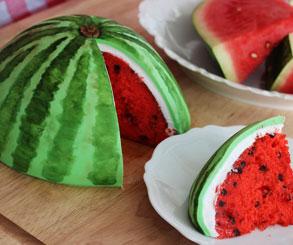 تزیین کیک مدل هندوانه مخصوص یلدا