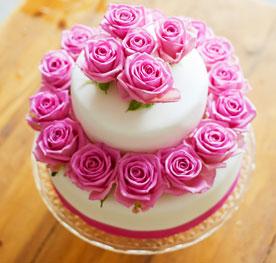 کیک تولد گل رز