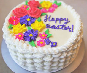 تزیین کیک تولدمدل بافت سبد