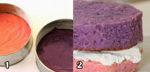 اموزش تزیین کیک تولد با فوندانت مدل رنگین کمانی