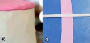 کیک تولدبا خمیرفوندانت مدل رنگین کمان