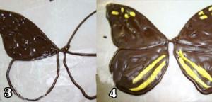 تزیین کیک با پروانه شکلاتی