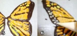 آموزش پروانه شکلاتی تزیین کیک