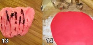 تزیین کیک قلب با فوندانت