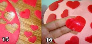 آموزش تزیین کیک قلب با فوندانت