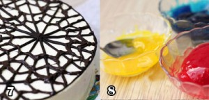 تزیین کیک پنجره ای با زله بریلو